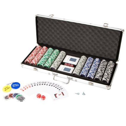 Ultrasport Pokerkoffer mit 500 Chips