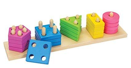 Goki 58927 - Farben- und Formen Sortierspiel