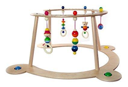 Hess Holzspielzeug 13370 Babyspiel und Lauflerngerät Bär Henry