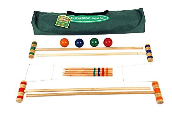 Traditional Garden Games 75cm Croquet Set