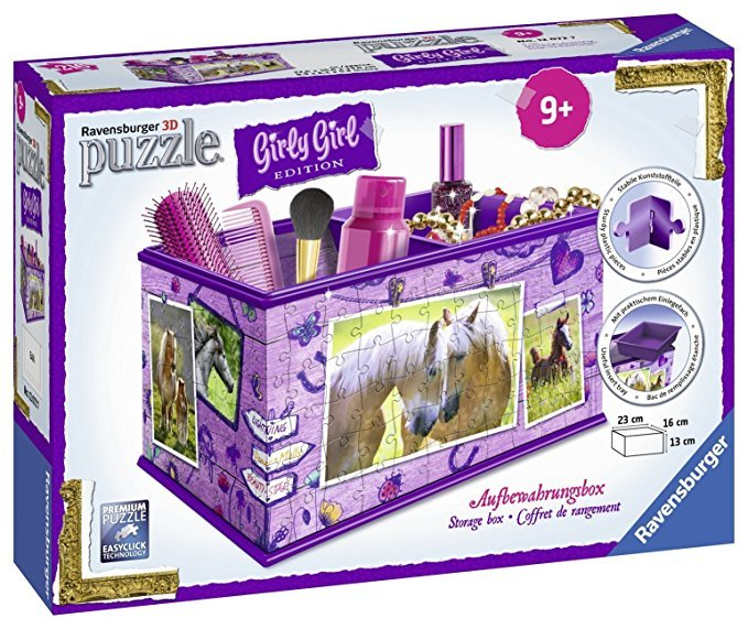 Ravensburger 12072 3D-Puzzle Girly Girl Edition Aufbewahrungsbox Pferde