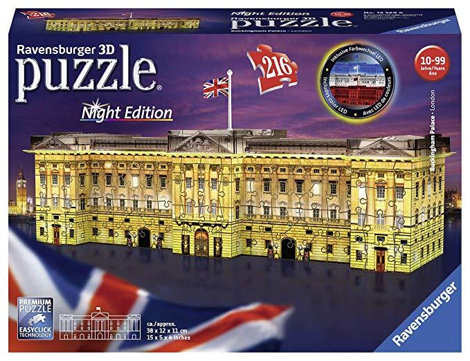 Ravensburger 12529-Buckingham Palace bei Nacht