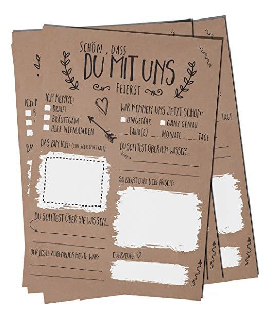 No Name bigdaygraphix Hochzeitsspiel 52 Postkarten