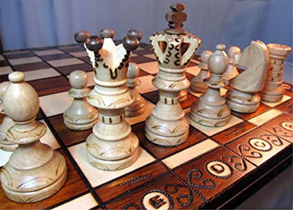 No Name Chessebook Schachspiel aus Holz