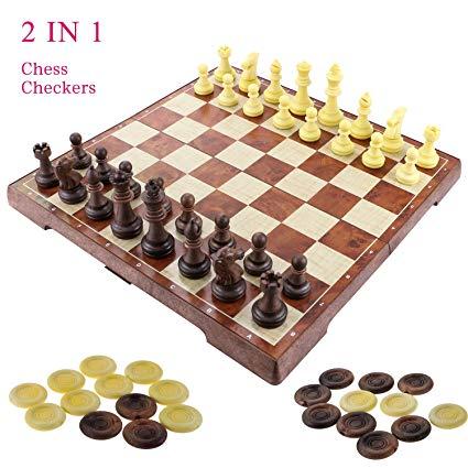 No Name Fixget 2 in 1 Schachspiel Magnetisch