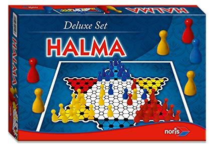 Noris Spiele Deluxe Halma mit Holzpöppeln