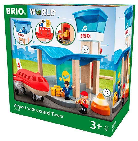 BRIO World 33883 - Flughafen mit Tower Spielset