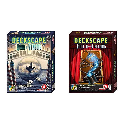 Abacusspiele Raub in Venedig, Escape Room Spiel – Hinter dem Vorhang, Escape Room Spiel
