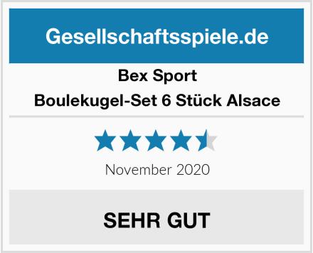 BE-X  Boulekugel-Set 6 Stück Alsace Test