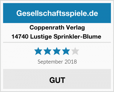 Coppenrath Verlag 14740 Lustige Sprinkler-Blume  Test