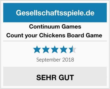 Continuum Games Count your Chickens Board Game  Test
