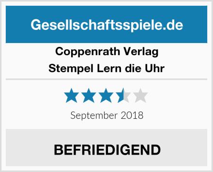 Coppenrath Verlag Stempel Lern die Uhr Test
