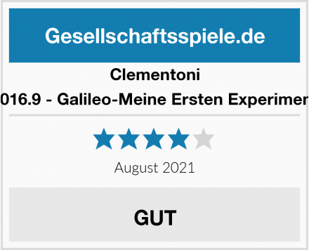 Clementoni 69016.9 - Galileo-Meine Ersten Experimente Test