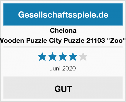 """Chelona Wooden Puzzle City Puzzle 21103 """"Zoo"""""""" Test"""