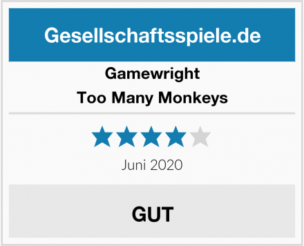 Gamewright Too Many Monkeys Test