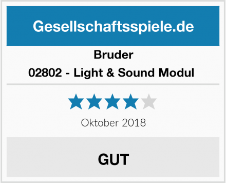 Bruder 02802 - Light & Sound Modul  Test