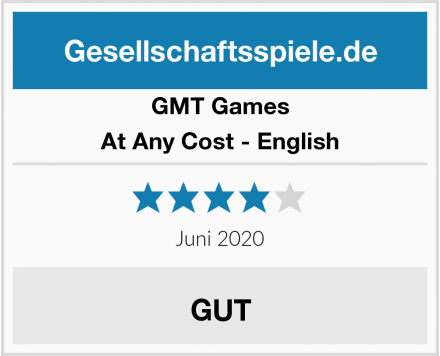 GMT Games At Any Cost - English Test