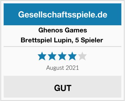 Ghenos Games Brettspiel Lupin, 5 Spieler  Test