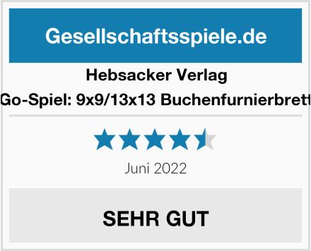Hebsacker Verlag Go-Spiel: 9x9/13x13 Buchenfurnierbrett Test