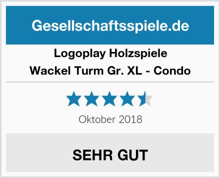 Logoplay Holzspiele Wackel Turm Gr. XL - Condo Test
