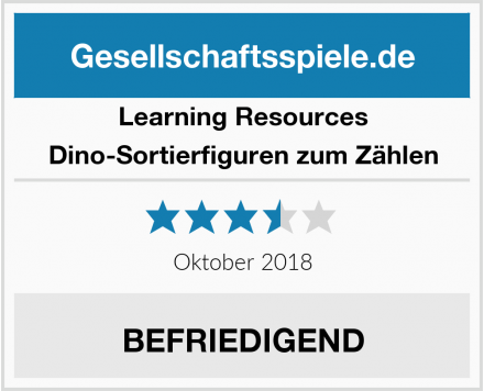 Learning Resources Dino-Sortierfiguren zum Zählen Test