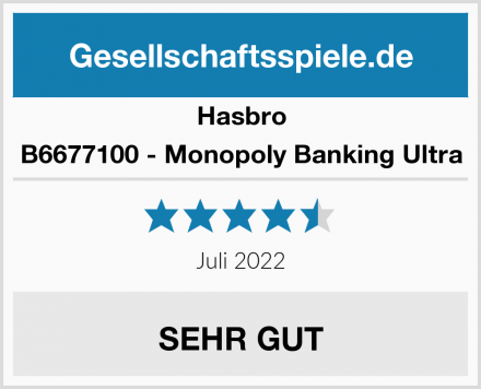 Hasbro B6677100 - Monopoly Banking Ultra Test