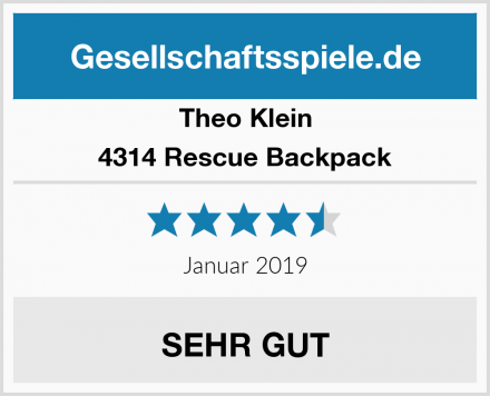 Theo Klein 4314 Rescue Backpack Test