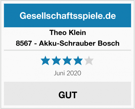 Theo Klein 8567 - Akku-Schrauber Bosch Test