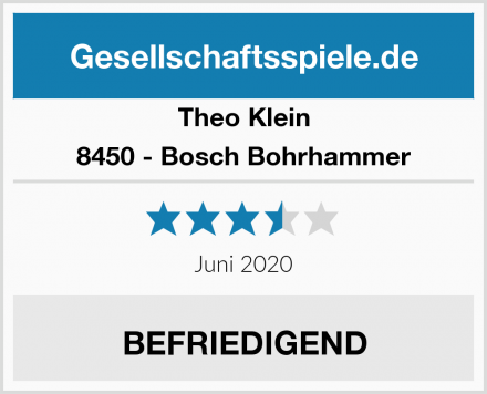 Theo Klein 8450 - Bosch Bohrhammer Test