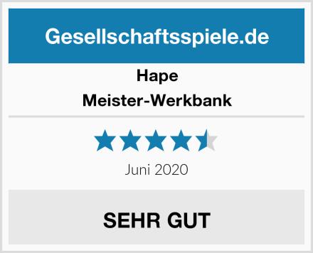 Hape Meister-Werkbank Test