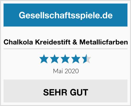 Chalkola Kreidestift & Metallicfarben Test