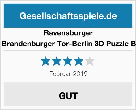 Ravensburger 12551 - Brandenburger Tor-Berlin 3D Puzzle Bauwerk Test