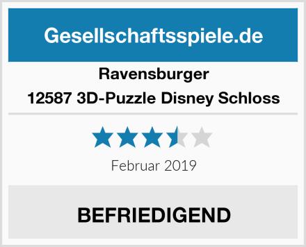 Ravensburger 12587 3D-Puzzle Disney Schloss Test