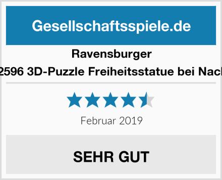 Ravensburger 12596 3D-Puzzle Freiheitsstatue bei Nacht Test