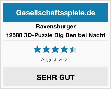 Ravensburger 12588 3D-Puzzle Big Ben bei Nacht Test