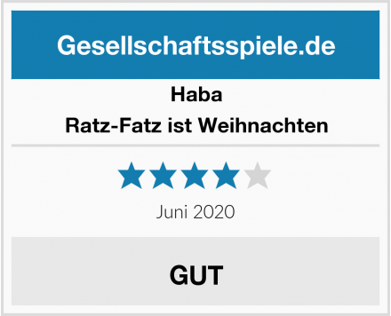 Haba Ratz-Fatz ist Weihnachten Test