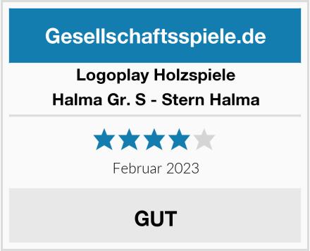 Logoplay Holzspiele Halma Gr. S - Stern Halma Test