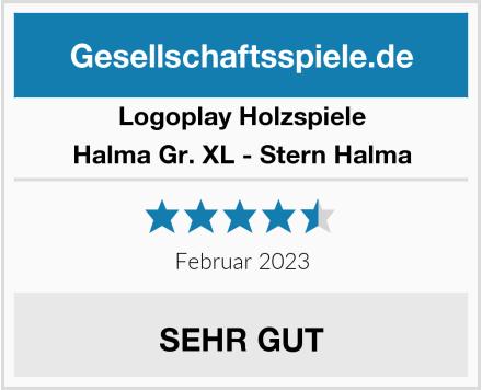 Logoplay Holzspiele Halma Gr. XL - Stern Halma Test