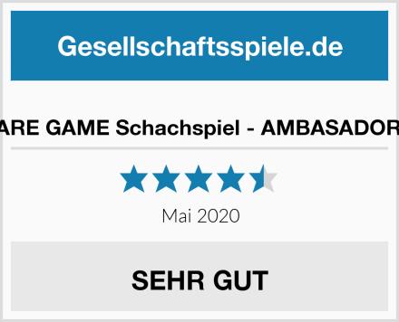 SQUARE GAME Schachspiel - AMBASADOR LUX Test
