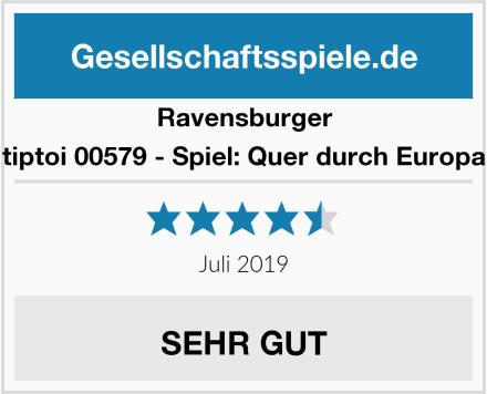 Ravensburger tiptoi 00579 - Spiel: Quer durch Europa Test