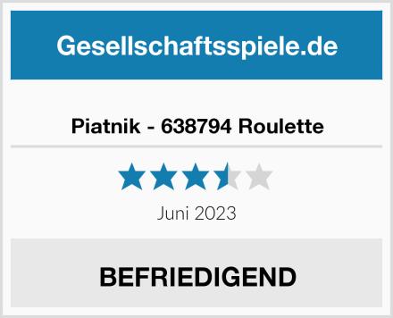Piatnik - 638794 Roulette Test