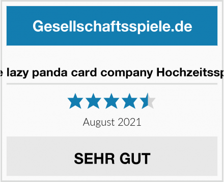 No Name the lazy panda card company Hochzeitsspiel Test