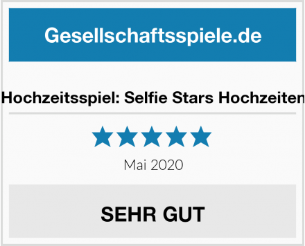 No Name Hochzeitsspiel: Selfie Stars Hochzeiten Test