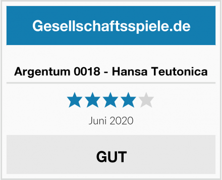 Argentum 0018 - Hansa Teutonica Test