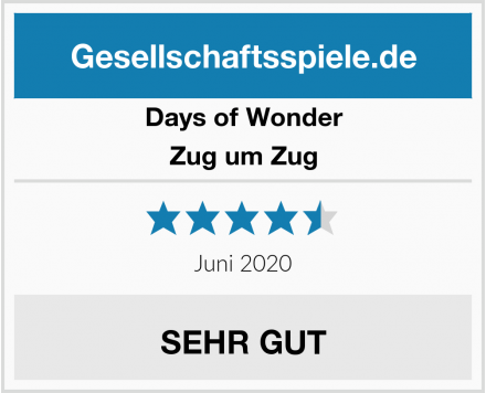 Days of Wonder Zug um Zug Test