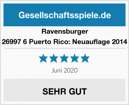 Ravensburger 26997 6 Puerto Rico: Neuauflage 2014 Test