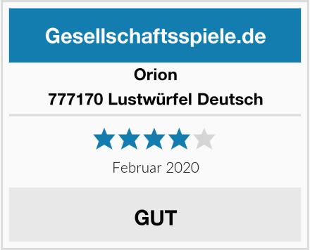 Orion 777170 Lustwürfel Deutsch Test