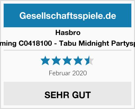 Hasbro Gaming C0418100 - Tabu Midnight Partyspiel Test