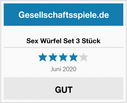 Sex Würfel Set 3 Stück Test