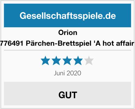 Orion 776491 Pärchen-Brettspiel 'A hot affair' Test
